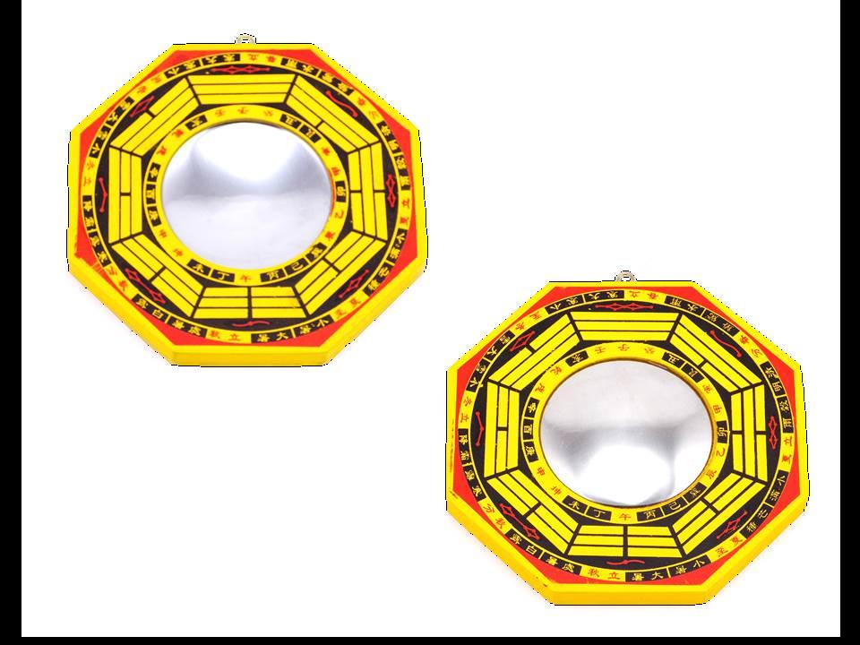Feng Shui Bagua Spiegel Set Konkav Konvex